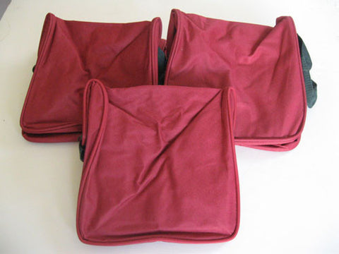 Heavy Duty 8 Ball Bag by EPCO - 3 Pack burgandy