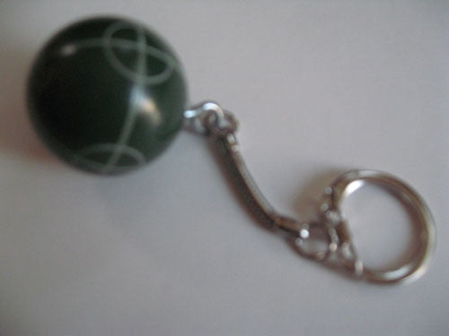 Bocce Ball Key Chains - single green