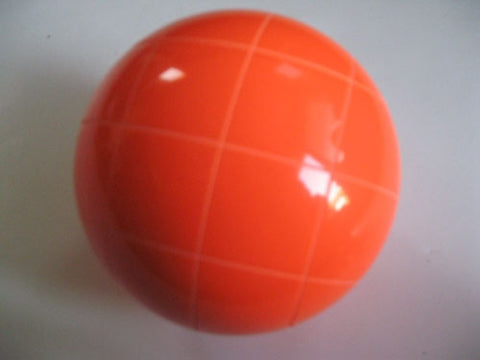 Replacement EPCO 110mm Orange Bocce Ball with Criss Crossed stripes