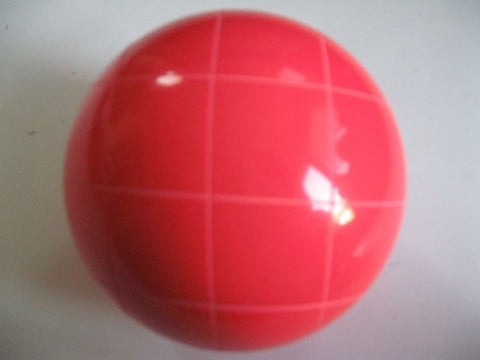 Replacement EPCO 110mm Light Red Bocce Ball with Criss Crossed stripes