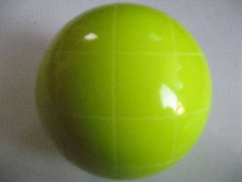 Replacement EPCO 110mm Yellow Bocce Ball with Criss Crossed stripes