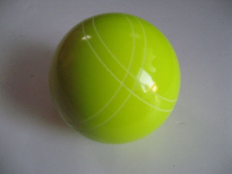 Replacement EPCO 110mm Yellow Bocce Ball with Close Curvey stripes