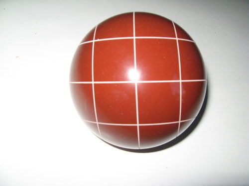 Replacement EPCO 114mm Dark Red Bocce Ball with Criss Crossed stripes