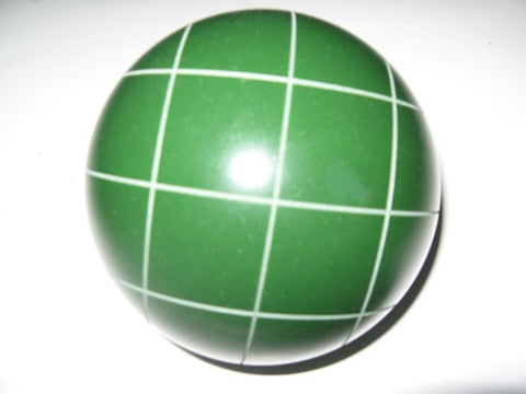 Replacement EPCO 114mm Green Bocce Ball with Criss Crossed stripes