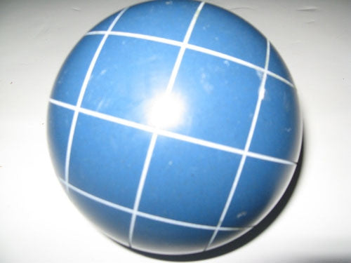 Replacement EPCO 110mm Blue Bocce Ball with Criss Crossed stripes