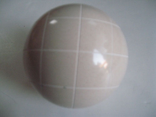 Replacement EPCO 110mm White Bocce Ball with Criss Crossed stripes