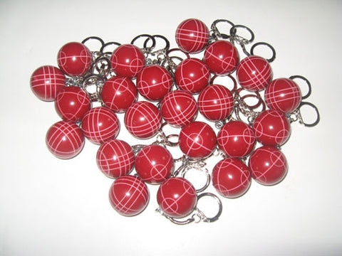 Bocce Ball Key Chains - pack of 25 red