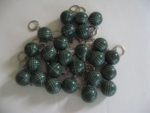 Bocce Ball Key Chains - pack of 25 green