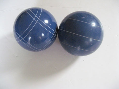 Replacement EPCO 110mm Blue Bocce Balls with mix of stripes - Pack of 2