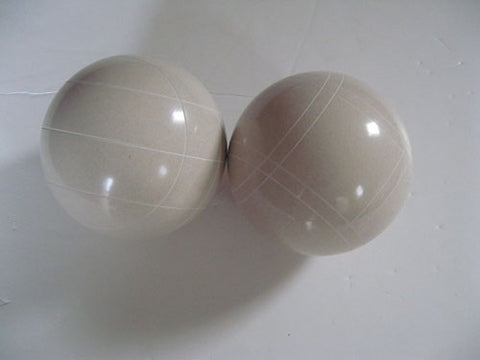Replacement EPCO 110mm White Bocce Balls with mix of stripes = pack of 2