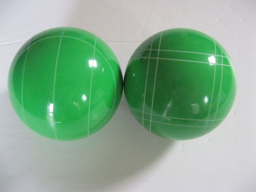 Replacement EPCO 110mm Light Green Bocce Balls with mix of stripes - pack of 2