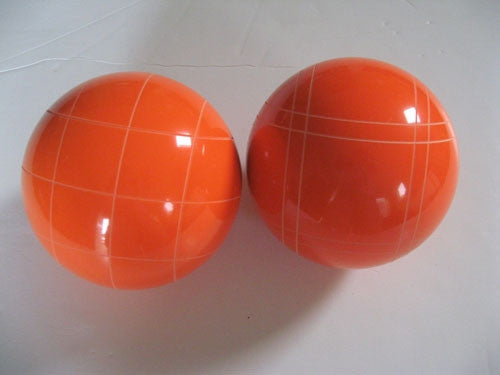 Replacement EPCO 110mm Orange Bocce Balls with mix of stripes = Pack of 2