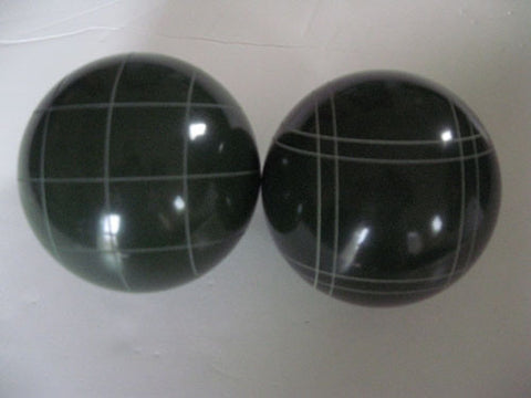 Replacement EPCO 114mm Dark Green Bocce Balls with mix of stripes