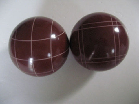 Replacement EPCO 107mm Dark Red Bocce Balls with mix of stripes - pack of 2