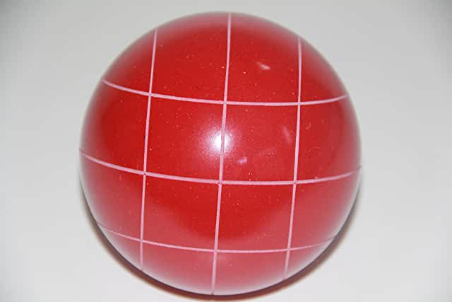Replacement EPCO Bocce Ball with Criss Cross stripes - single RUSTIC Red 110mm