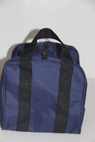 Heavy Duty Nylon Bocce Bag - Blue with Black Handles