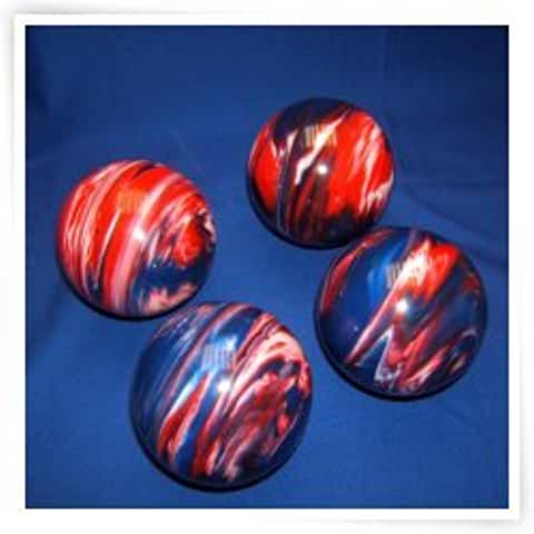 Epco Premium Quality 4 Ball 107mm Tournament Bocce Set - Marbled Red/White/Blue [Toy]