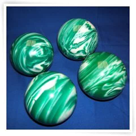 Epco Premium Quality 4 Ball 107mm Tournament Bocce Set - Marbled Green/White [Toy]