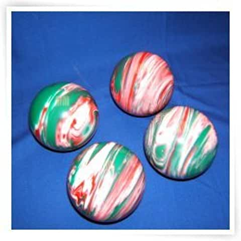 Epco Premium Quality 4 Ball 107mm Tournament Bocce Set - Marbled Red/White/Green [Toy]