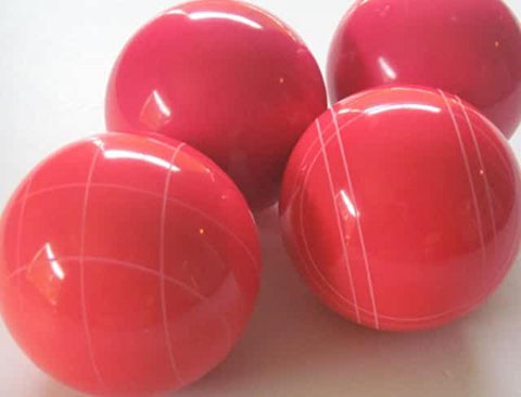 4 Ball EPCO Set with GLO red balls and mix of striping 110mm