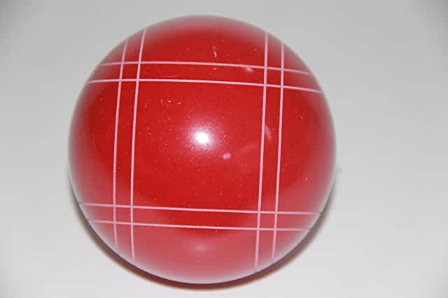 Replacement EPCO Bocce Ball with Close Curvey stripes - single RUSTIC Red 110mm