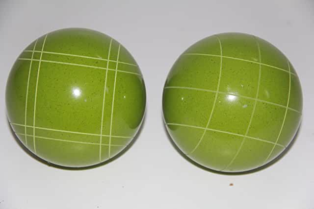 Replacement 2 Pack - EPCO Bocce Balls with Criss Cross and Close Curvey stripes - RUSTIC Green 110mm