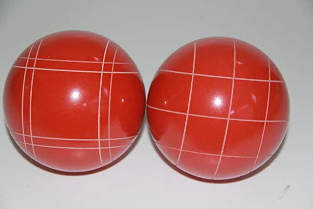 Replacement 2 Pack - EPCO Bocce Balls with Criss Cross and Close Curvey stripes - RUSTIC Orange 110mm