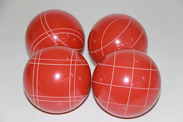 Replacement 4 Pack - EPCO Bocce Balls with Criss Cross and Close Curvey stripes - RUSTIC Orange 110mm