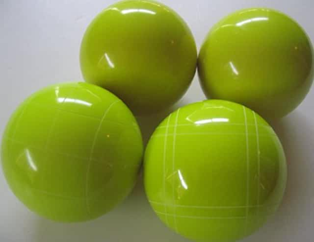 Copy of 4 Ball EPCO Set with GLO yellow balls and mix of striping 110mm