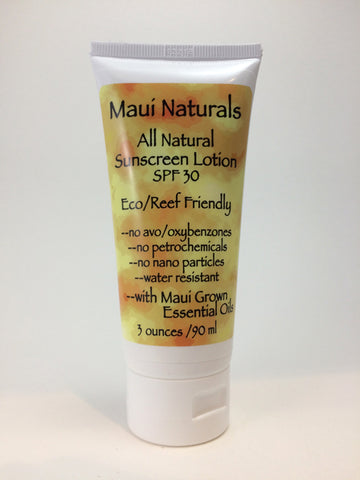 Maui Naturals Sunscreen SPF 30 (3 Ounce). Reduced from $17.50