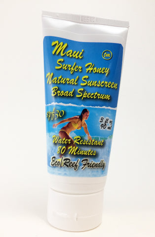 Maui Surfer Honey Sunscreen SPF 30 (3 Ounce) Reduced from $17.50