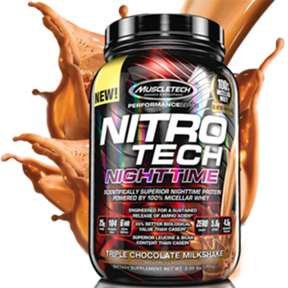 Muscletech Nitrotech Night Time Protein Powder Online | Supps Is Life