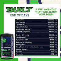 Built End of Days Pre Workout