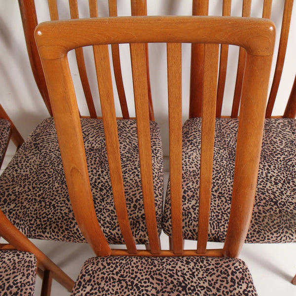 Benny Linden Style Teak Dining Chairs by SVA Møbler