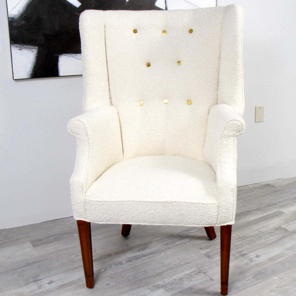 Fritz Henningsen Style Wingback Chair