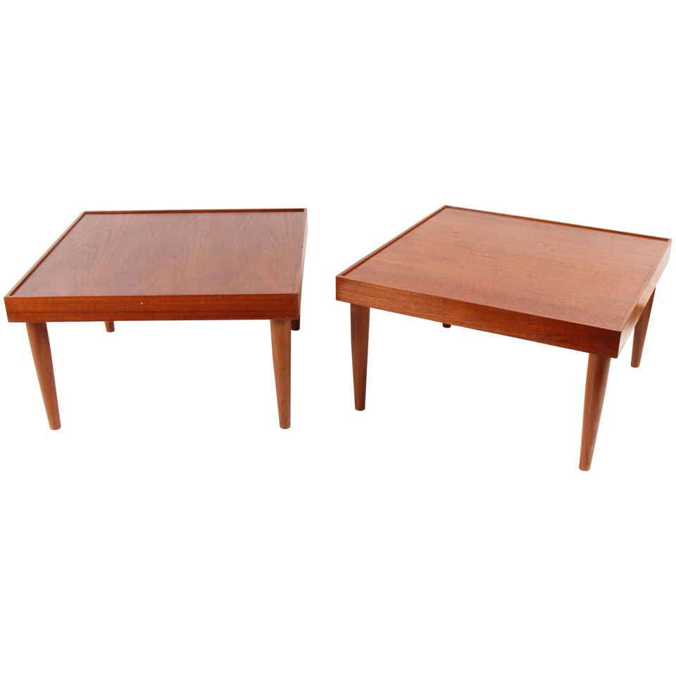 Mid Century Teak End Tables from Norway