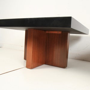 Milo Baughman Lacquered Walnut End Tables by Thayer Coggin