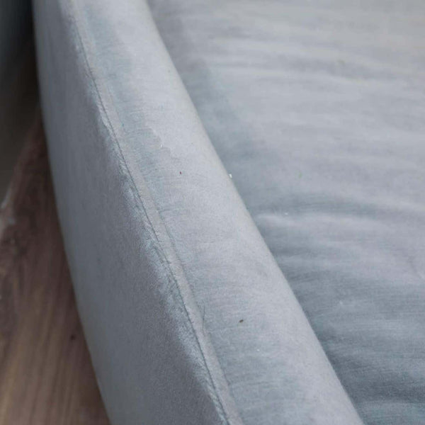 Custom-Made Sofa in Grey Velvet