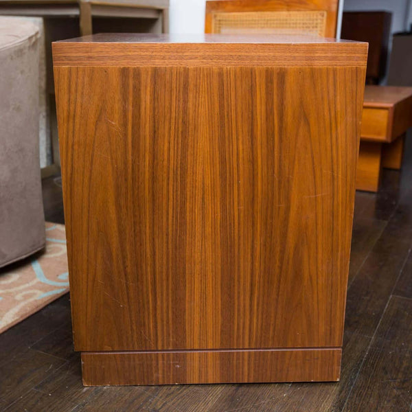 Walnut and Cerused Oak Two-Drawer Cabinet