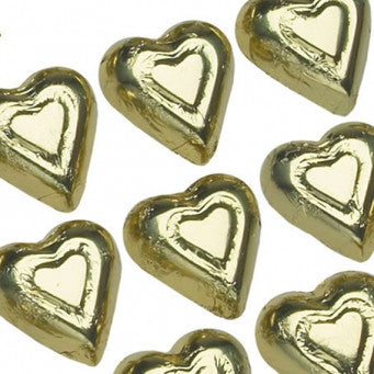 Foiled Gold Hearts