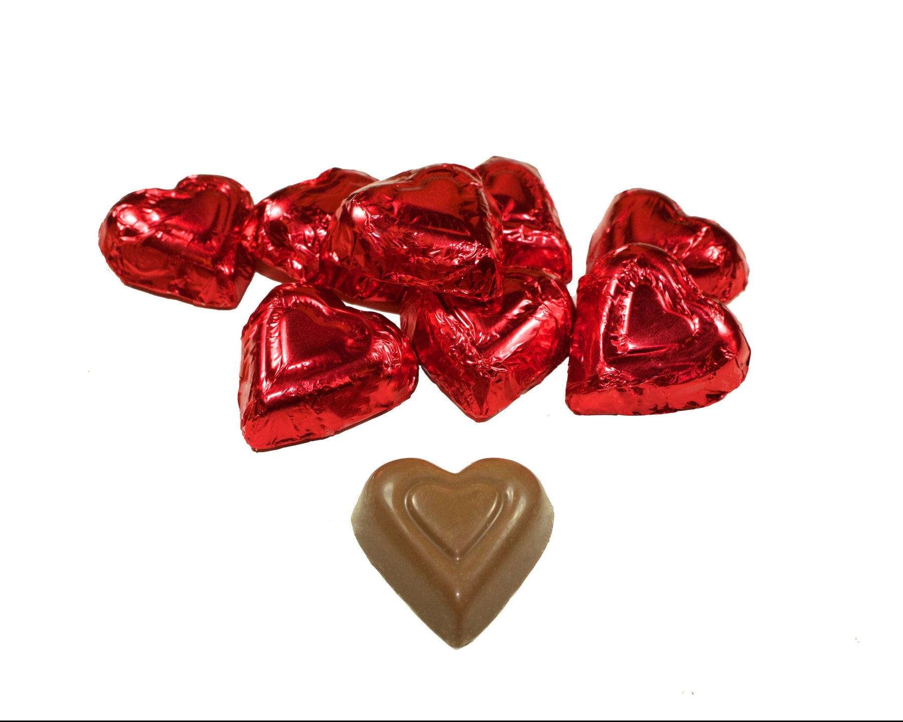 Foiled Red Hearts