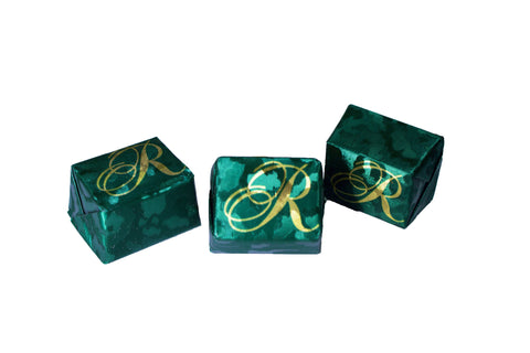 Foiled Green Chocolate Presents with signature R