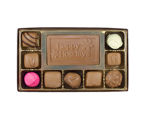 Happy Holidays 10 Piece Gift Box - Rosalind Candy Castle