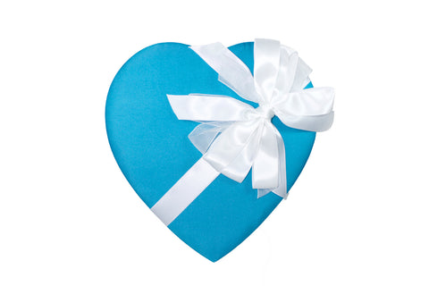Blue Heart with White Bow - Rosalind Candy Castle
