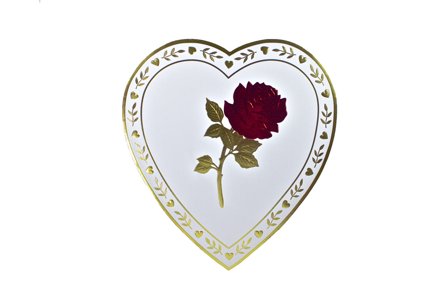White Heart Rose with Gold - Rosalind Candy Castle