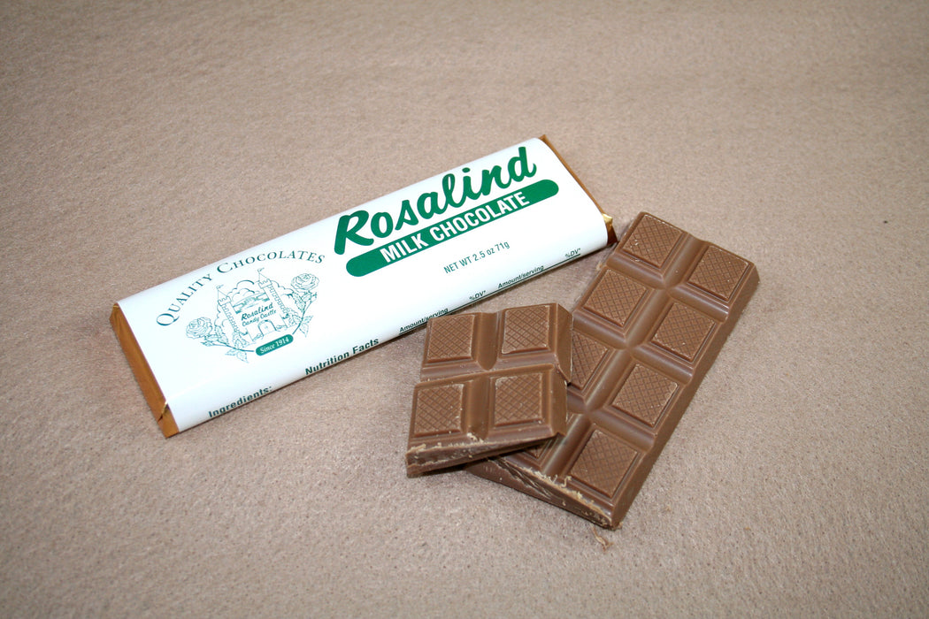Chocolate Bar - Plain Milk Chocolate - Rosalind Candy Castle