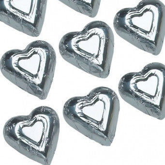 Foiled Silver Hearts