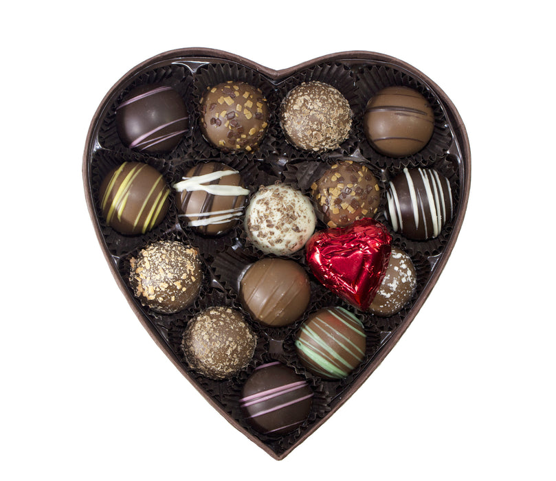Truffle Heart Assortment - Rosalind Candy Castle