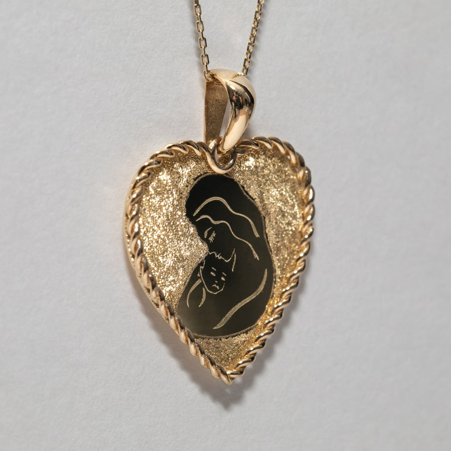 Motherhood In Heart Pendant Necklace
