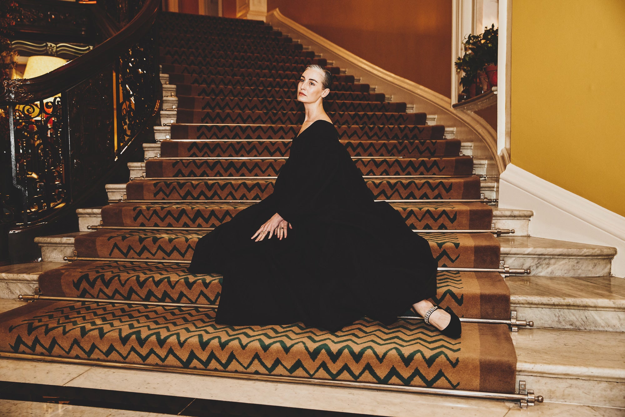 Erin O Connor -  An Evening at Claridges with Emilia Wickstead